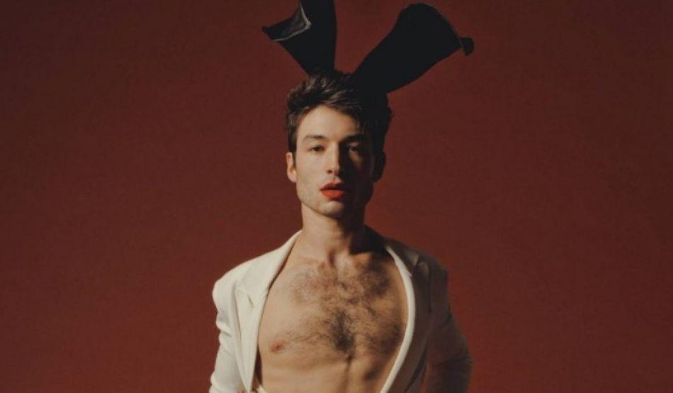 Ezra Miller posa para Playboy con orejitas de conejo